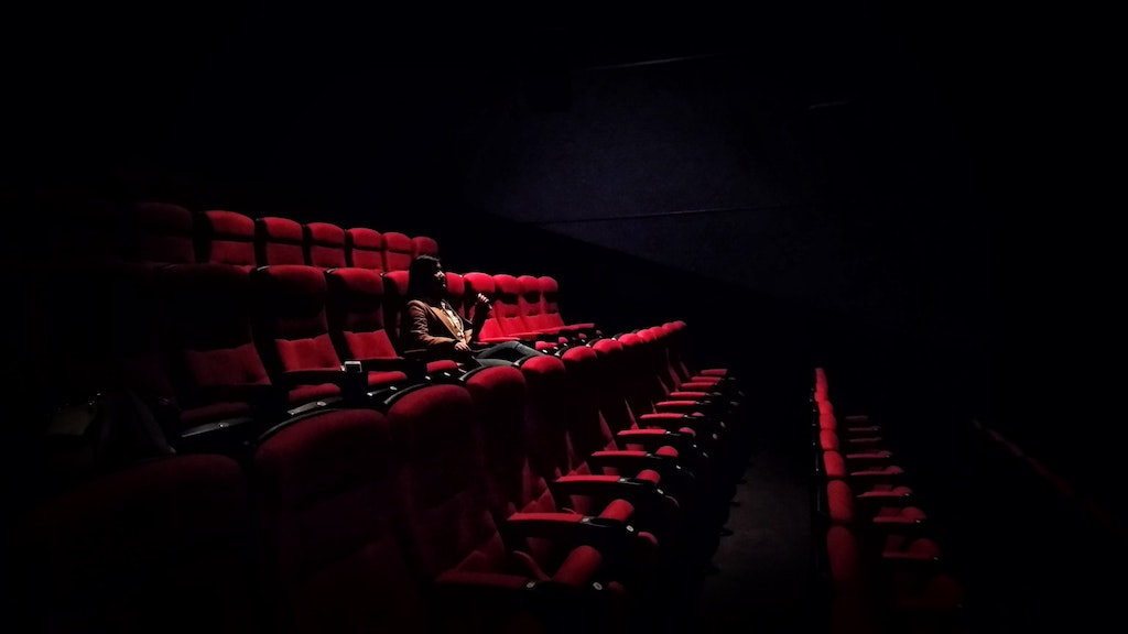 Woman in a Cinema